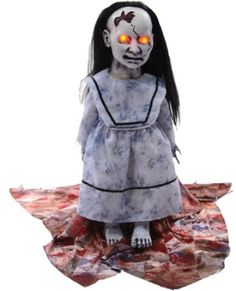 Graveyard Dolly Lunging Baby Doll : Patio, Lawn & http://www.worldofadultcostumes.com/Halloween-Props-for-Parties-Great-Decoration-Ideas-and-Scary-Look.html  #halloween_props #halloween Decorations #Halloween2013 #Holiday_party #scary_decorations #mother_in_law_pic_scary #creepy_skeleton #besthalloweenprops #zombie