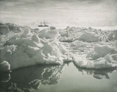 The ship Terra Nova in McMurdo Sound, Antarctica, January 7, 1911, photographed by Herbert Ponting. The Terra Nova Expedition, aka the British Antarctic Expedition, was an expedition to Antarctica that took place between 1910 and 1913.  (Royal Collection Trust)