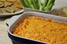 Love buffalo wings? How about blue cheese? Buffalo Chicken Dip is a mix of both creating a delicious dip for tailgating and parties.