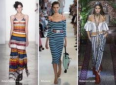 Spring/ Summer 2017 Print Trends: Stripes - I would like the top on the right side. Maybe I can make a version of the top