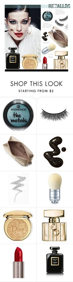 """Metallic"" by hellodollface ❤ liked on Polyvore featuring beauty, Battington, Anya Hindmarch, NYX, Morgan Lane, Christian Dior, Gucci, Urban Decay, Chanel and metallicmakeup"