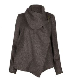 AllSaints Turnlock Monument Jacket (in black oatmeal) - love this colour!