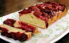 This Polish Plum Cake is similar to a pound cake but more dense.