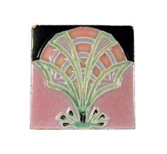 Art Deco Nouveau Majolica Tile