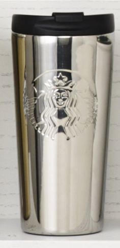 Insulated stainless steel tumbler with an embossed Siren logo and a mirror finish. #Starbucks #DotCollection