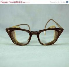 9d39bcf152ba4 SALE Vintage B Safety Glasses    1950s by independencevintage