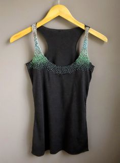 Ombre Mint French Knot Tank Top