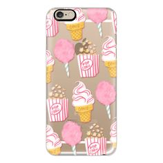 iPhone 6 Plus/6/5/5s/5c Case - Cute Summer Ice Cream Popcorn Candy... found on Polyvore featuring accessories, tech accessories, phone cases, phone, electronics, fillers, iphone case, print iphone case, iphone cover case i iphone cases