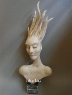 Wowww !!!!  Felt sculpture, just amazing