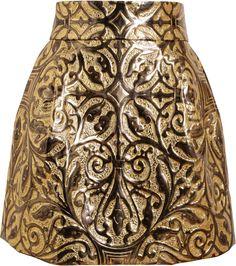 DOLCE & GABBANA Love this: Metallic Embossed Brocade Skirt @Lyst