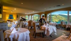 Our Two AA Rosette Woodlands Restaurant offering breath-taking views over the Glen! Woodlands Restaurant, Hotels Near, Beautiful Gardens, Photo Galleries, Indoor, Flooring, Table Decorations, Luxury, Gallery