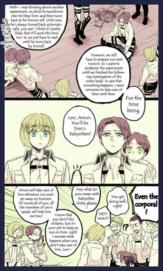 Attack on Titan - Little Eren, Mikasa, Armin, Levi, and Hanji : Hanji's Experiment Part 28 / 39