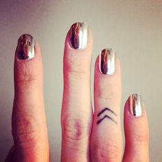 I love the chevron tattoo, I kinda want this, but idk where I'd put it :/