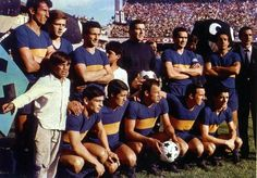 1965 Boca Juniors, Top, left to right: Antonio Rattín, Silvio Marzolini, Carmelo Simeone, Antonio Roma, Jose Maria Silvero , Alcides Silveira ,  Bottom, left to right: Oscar Pianetti, Ángel Rojas, Alfredo Rojas, Norberto Menéndez , Alberto González