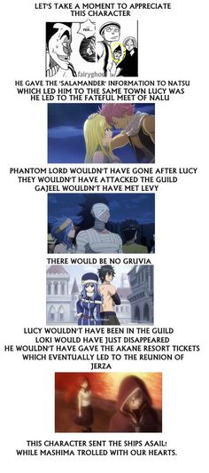 But not jerza. Jellal would have still sent them to capture Erza, as the tower was almost complete and needed a sacrifice. Fairy Tail Meme, Fairy Tail Quotes, Fairy Tail Nalu, Fairy Tail Ships, Fairy Tail Family, Fairy Tail Couples, Gajevy, Gruvia, Tokyo Ghoul