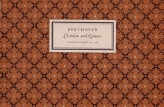 Publisher: Penguin Books / Series: Penguin Scores / Designer: Jan Tschichold / Year: 1954 / Pattern by [?]
