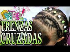 Peinados para niñas con ligas arcoiris  y trenzas pegadas Peinados fáciles y rápidos  para niñas LPH - YouTube Girl Hairstyles, Braided Hairstyles, Mixed Girls, Natural Styles, Plaits, Braid Styles, Ponytail, Dreadlocks, Youtube