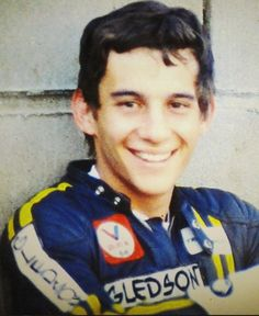 Ayrton Senna - what a smile. He looked so relaxed and happy.