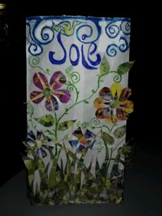 Multimedia luminary for Relay for Life