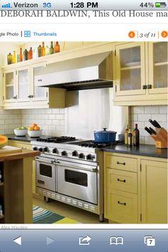 kitchen cabinets and backsplash