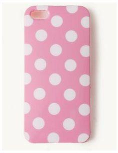 Pink White Polka Dots