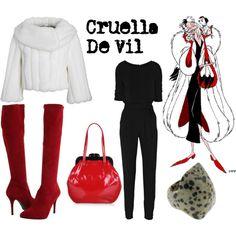 Disney inspired Fashion - Cruella De Vil (of course this is my favorite...)