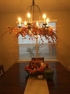 Fall decor for dining room.... Getting there. 40% off at Hobby Lobby