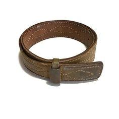 Vintage Distressed Justin Belt  Western Leather Belt