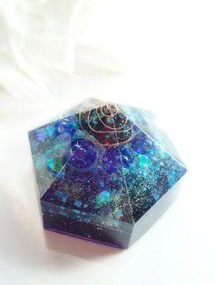 六角宇宙のオルゴナイト(ロイヤルブルー&バイオレット) | Belly~波動アクセサリー&オルゴナイトのSHOP