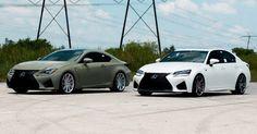 Army Green Lexus RC F & White GS F Pose On Custom Rims [49 Pics] #Galleries #Lexus
