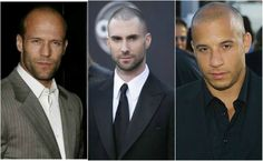 celebrity buzz cuts - Jason Statham, Adam Levine, Vin Diesel
