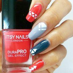 Here's a geometric mani using some more lovely polishes from I love… Uk Nails, Nail Oil, Stamping Nail Art, City Girl, Natural Nails, Spring Nails, Manicure, Nail Designs, Nail Polish