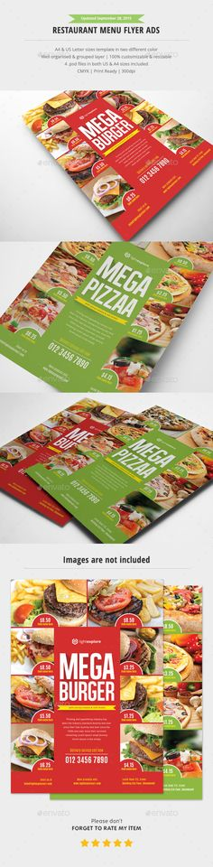 Restaurant Flyer Template  Modern Restaurant Restaurants And Flyers