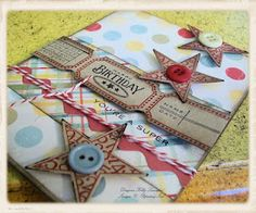 love tickets, stars, twine and buttons