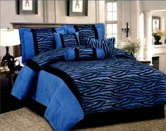 Created By Bedroom Decor Ideas Blue Zebra Is Very Por With Tween S And Bedding A Gorgeous Color Combination For Any