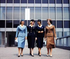 Pan Am, American Airlines & United Stewardess uniform 1950.