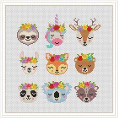 Unicorn Cross Stitch Pattern, Disney Cross Stitch Patterns, Counted Cross Stitch Patterns, Cross Stitch Designs, Cross Stitch Embroidery, Unicorn Pattern, Modern Cross Stitch Patterns, Hand Embroidery, Tiny Cross Stitch