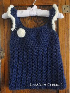 Playful Toddler Top - If you're unsure of how to make a crochet top then this would be a good top to start out with; it's an easy crochet pattern that will look adorable on any little girl.