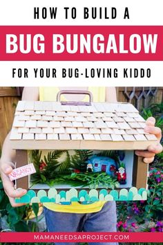Turn your scrap wood into a DIY bug house for your kids with free woodworking plans! You won't believe how cute our little Bug Bungalow turned out! Backyard Projects, Garden Projects, Projects For Kids, Diy Projects, Woodworking Tutorials, Woodworking Plans, Bug Houses For Kids, Garden Crafts, Garden Art