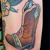 cowboy boot tattoo - Google Search
