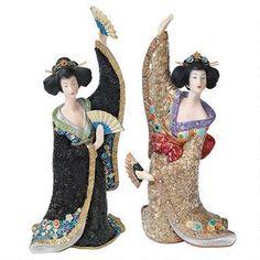 Odoriko Geisha Asian Statue Collection: Bachiko & Aiko