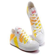 Converse Chuck Taylor All Star Arancione Vernice Pennellata scarpe basse Top Canvas.€37.87