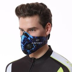 XINTOWN Activated Carbon Dust-proof Cycling Face Mask Anti-Pollution Bicycle Bike Outdoor Training s Karate Training, Baseball Training, Boxing Training, Volleyball Training Equipment, Martial Arts Training Equipment, Weight Training Equipment, Panther, Outdoor Training, Cycling Mask