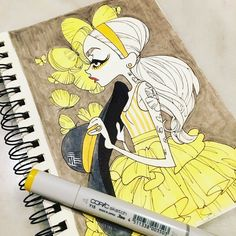 inkgirls 41 #inkedup #inkgirls #tattoo #copic #micron #butterfly #yellow http://ift.tt/2wGmESD