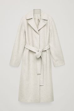 Speckled wool trench coat Wool Trench Coat, Manteau Long, Dress For Success, Contemporary Fashion, Winter Wear, Wool Blend, Cos, Raincoat, What To Wear