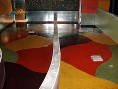 Pictures of Concrete Flooring Surface Treatments: Epoxy Treated Concrete Flooring