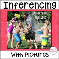 Inference Activities, Language Activities, Classroom Activities, Classroom Ideas, Reading Comprehension Strategies, Cafe Strategies, Inference Pictures, 5th Grade Classroom, Third Grade Reading