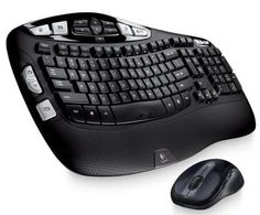 Logitech Wireless Wave Keyboard and Mouse Combo — Includes Keyboard and Mouse, Long Battery Life, Ergonomic Wave Design - Electronics Lists Products Online Logitech, Desktop, Usb, Thing 1, Wave Design, Electronics Gadgets, Amazon Electronics, Technology Gadgets, Online Shopping