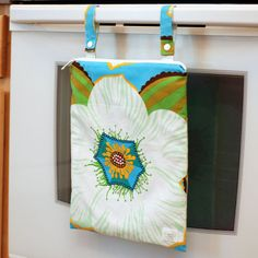 Kitchen wet bag for reusable paper towels, dishcloths, etc. Great baby shower gift!
