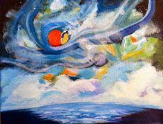 Arrachme Contemporary Art: Contemporary Seascape Painting , Color Study  $99.00
